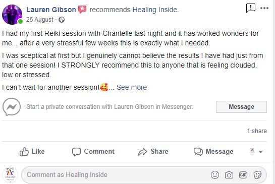 facebook healing inside review